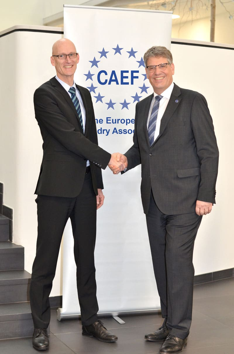 Heiko Lickfett (left) succeeded Max Schumacher as Secretary General of CAEF.
